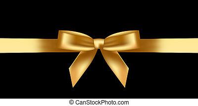 skinnende, guld bov