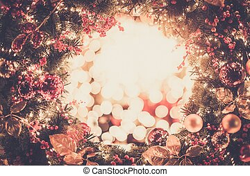 skinnende, krans christmas