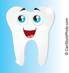 skinnende, tænder