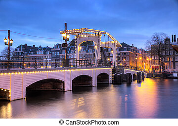 Skinny bridge - HDR image of the skinny bridge in Amsterdam...