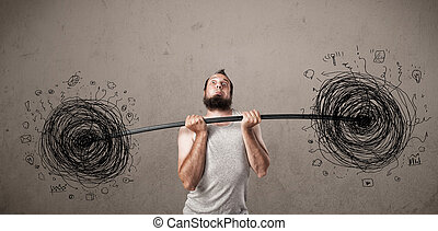 skinny guy defeating chaos situation - Funny skinny guy...