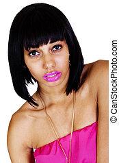 Skinny Light Skinned Black Woman Bare Shoulders