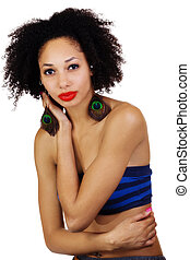 Skinny Light Skinned Black Woman Tube Top