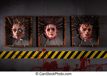 Skins from human heads stuck in frames - Ghastly skins from...