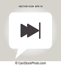 skip forward vector icon