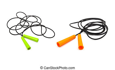 Skip Rope - Set of four different skip ropes isolated on ...