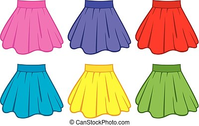 skirt collection vector illustration
