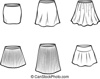skirt - Vector illustration of skirt. Casual clothes