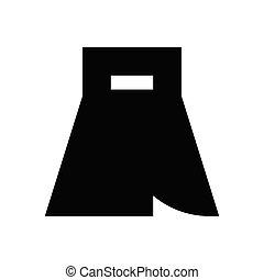 skirt  glyph flat icon