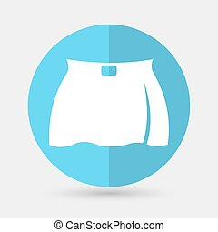 skirt icon on a white background
