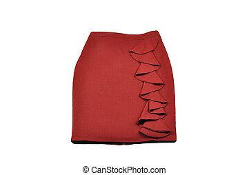 Skirt on white background