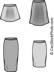 skirt - Vector illustration of skirt. Business clothes