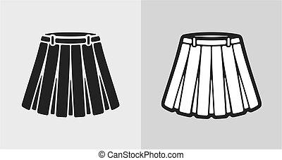 Vector illustration of flared skirt icon