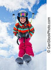 skis., 女の子