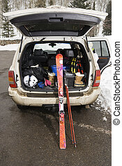 skis., 車