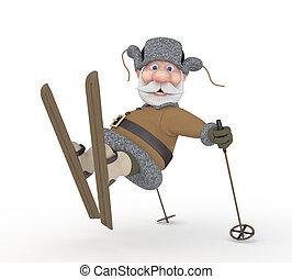 skis., dziadek