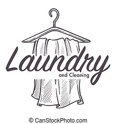 Skiss, tvättstuga, skissera, service, logotype, rensning