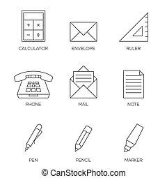 skissera, ämbete ikon, vol, 2, redskapen