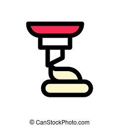 skissera, editable, serve, karamell, vektor, mjuk, fyllt, ikon