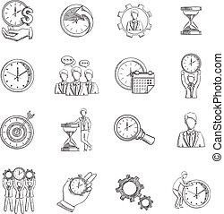 skitse, ledelse, tid