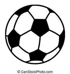 skitseret, soccer bold