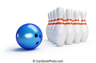 Skittles and bowling ball
