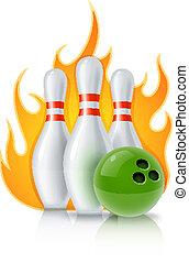 skittles, sfera gioco, bowling