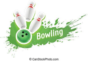 skittles, sfera gioco, gioco, bowling