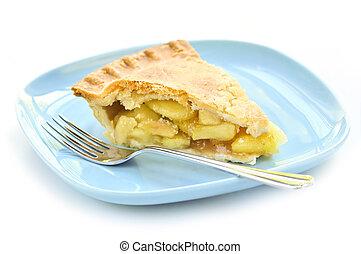 skiva, äpple tårta