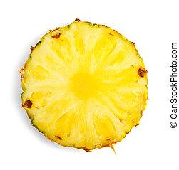 skiva, av, ananas