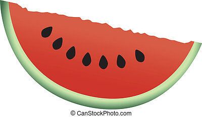 skiva, vattenmelon