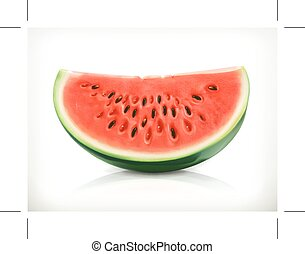 skiva, vattenmelon, ikon