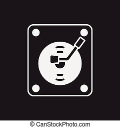skivspelare, ikon