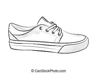 Schuhe Kostenlose Clipart Vektor Sneaker Vector MpSUVqzG