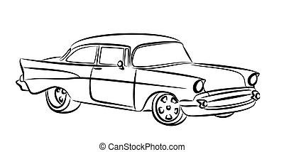 Altes , skizze, auto. EPS Vektoren - Suche Clipart, Illustration ...