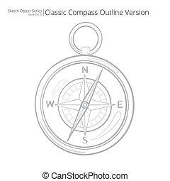 skizze, compass.