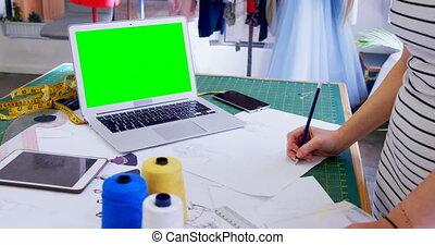 skizze, entwerfer, 4k, zeichnung, mode