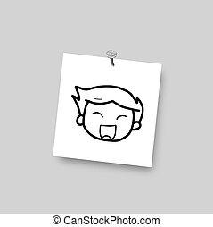 skizze, karikatur