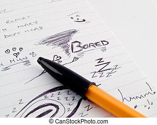 skizze, liniert, kugelschreiber, geschaeftswelt, gekritzel, ...