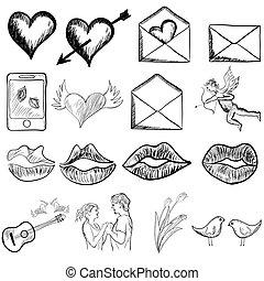 skizze, valentinestag