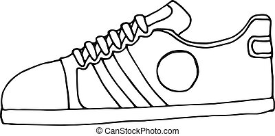 Skizze Illustration Women Schuhe Maenner Hand Vektor