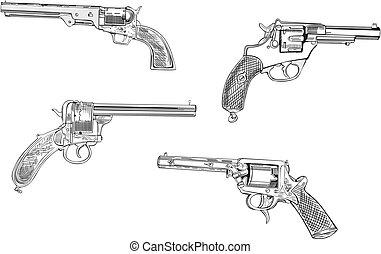 skizzen, revolver