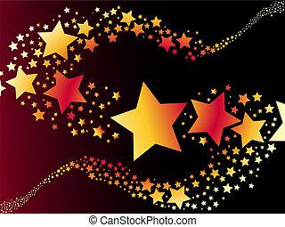 skjutning stjärna, vektor, illustration