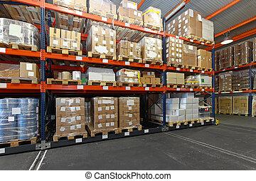 skladiště, distribuce
