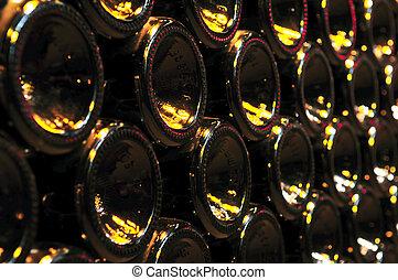 sklenice, víno