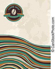 sklep, kawa, pojęcie, barwny