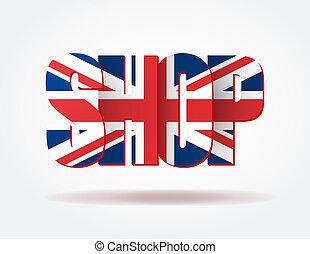 sklep, logo, typografia, brytyjski, internet