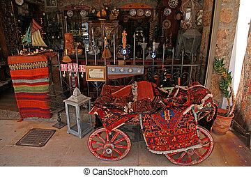 sklep, mały, dywany, dar, pamiątki