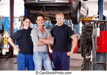 sklep, portret, mechanik