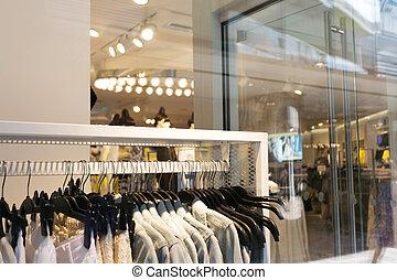 sklep, wewnętrzny, nowoczesny, fason